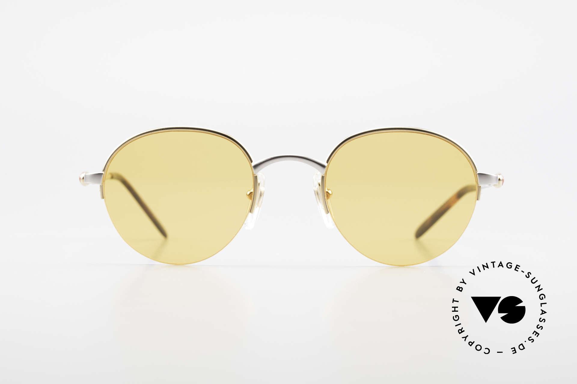 Bugatti 26658 90s Panto Designer Sunglasses, the Panto frame design is rarely to see at Bugatti, Made for Men