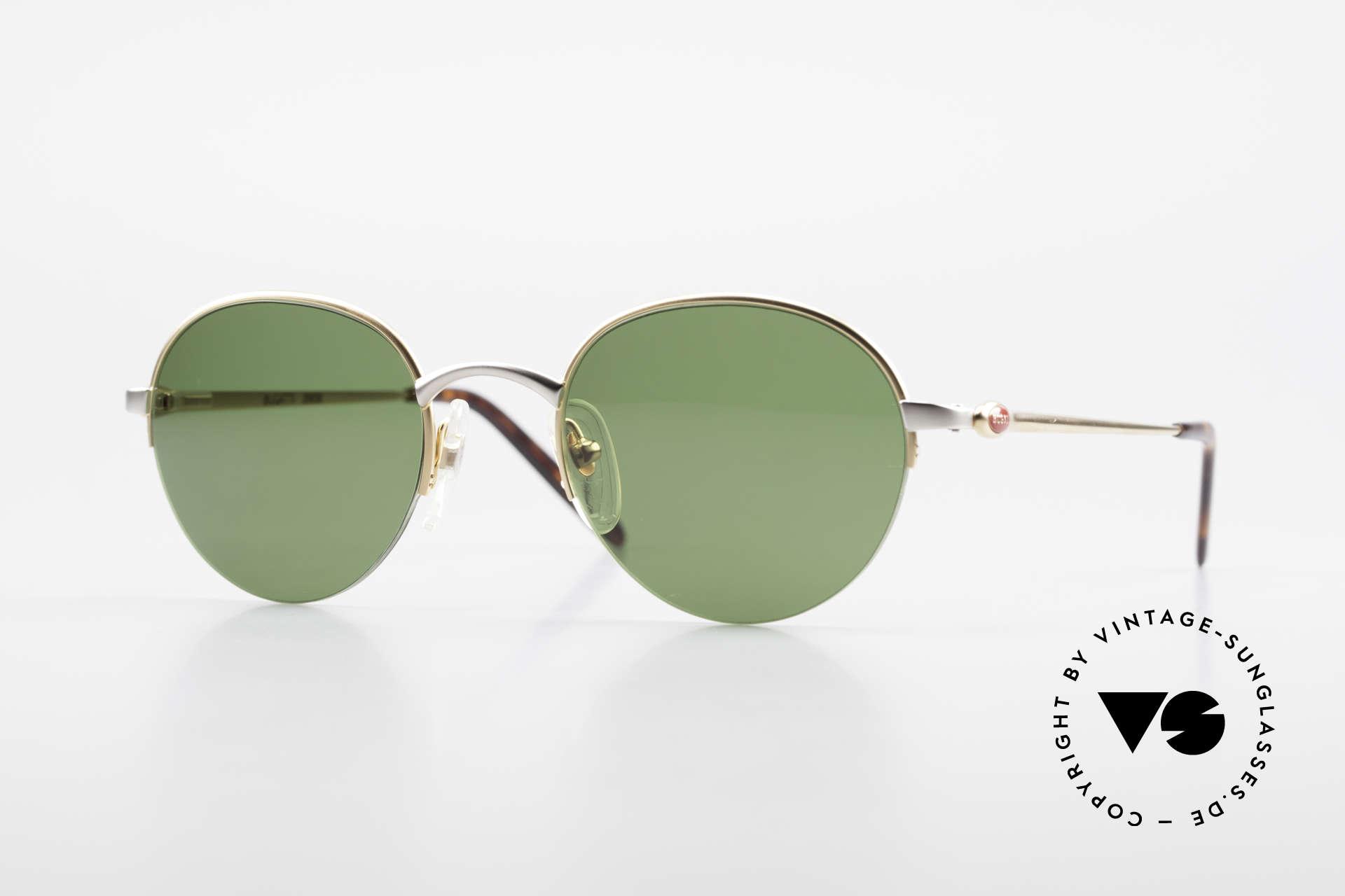 Bugatti 26658 Rare Panto Designer Shades, ultra rare Panto designer sunglasses in size 49/21, Made for Men