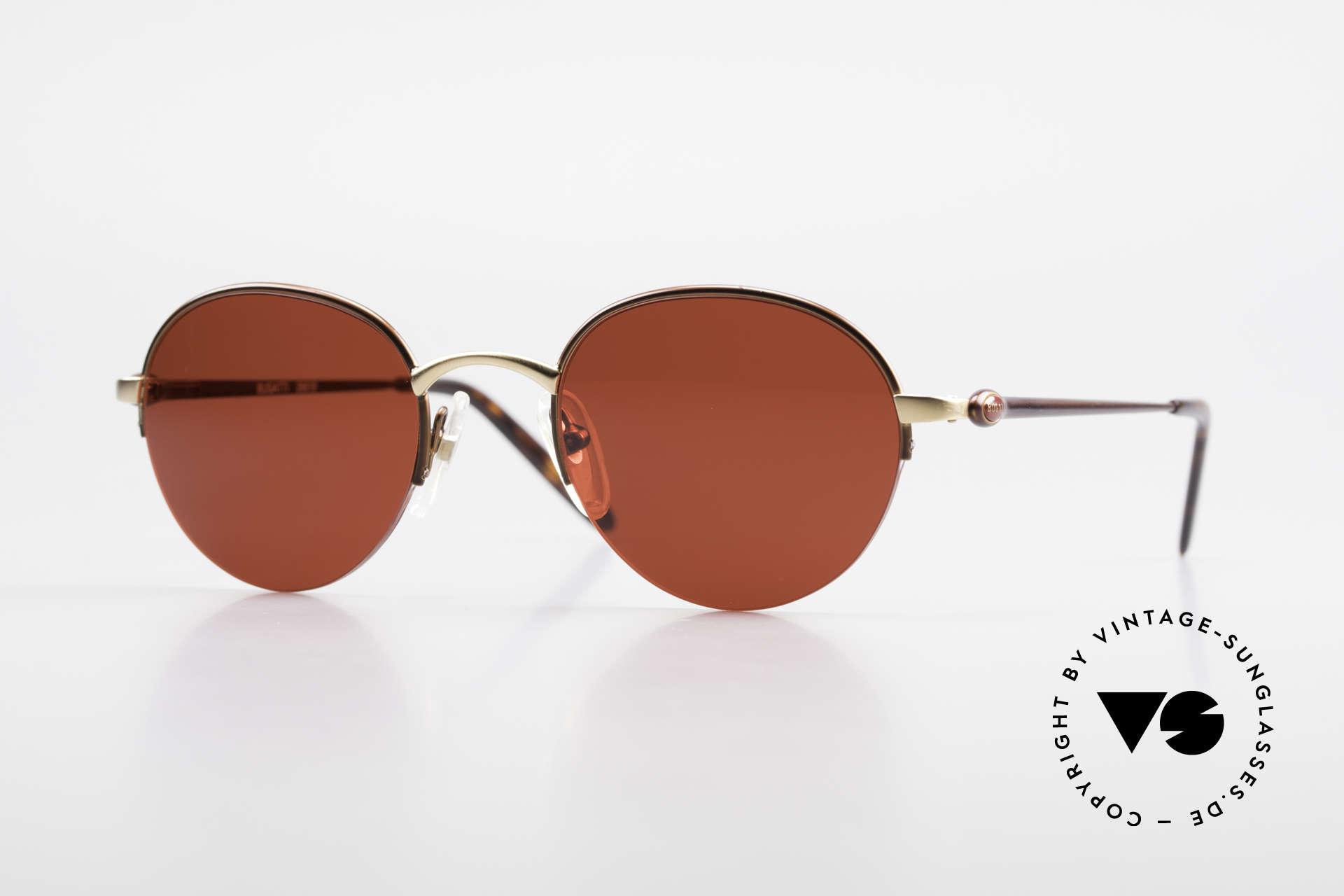 Bugatti 26619 Round Bugatti Panto Glasses, rare Bugatti Panto designer sunglasses; size 49/21, Made for Men