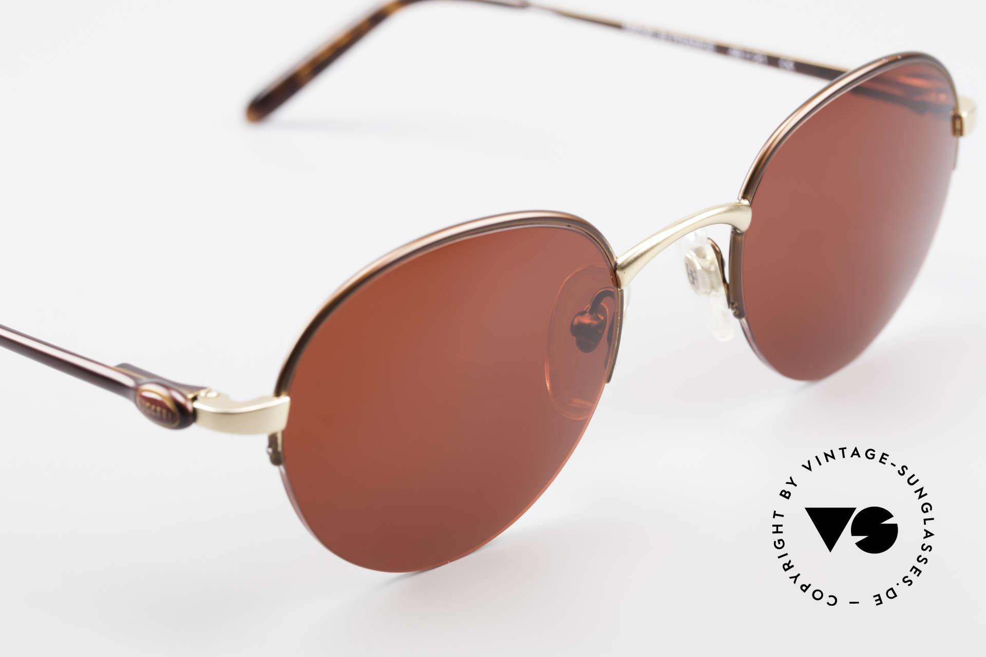 Bugatti 26619 Round Bugatti Panto Glasses, unworn (like all our rare vintage Bugatti sunglasses), Made for Men