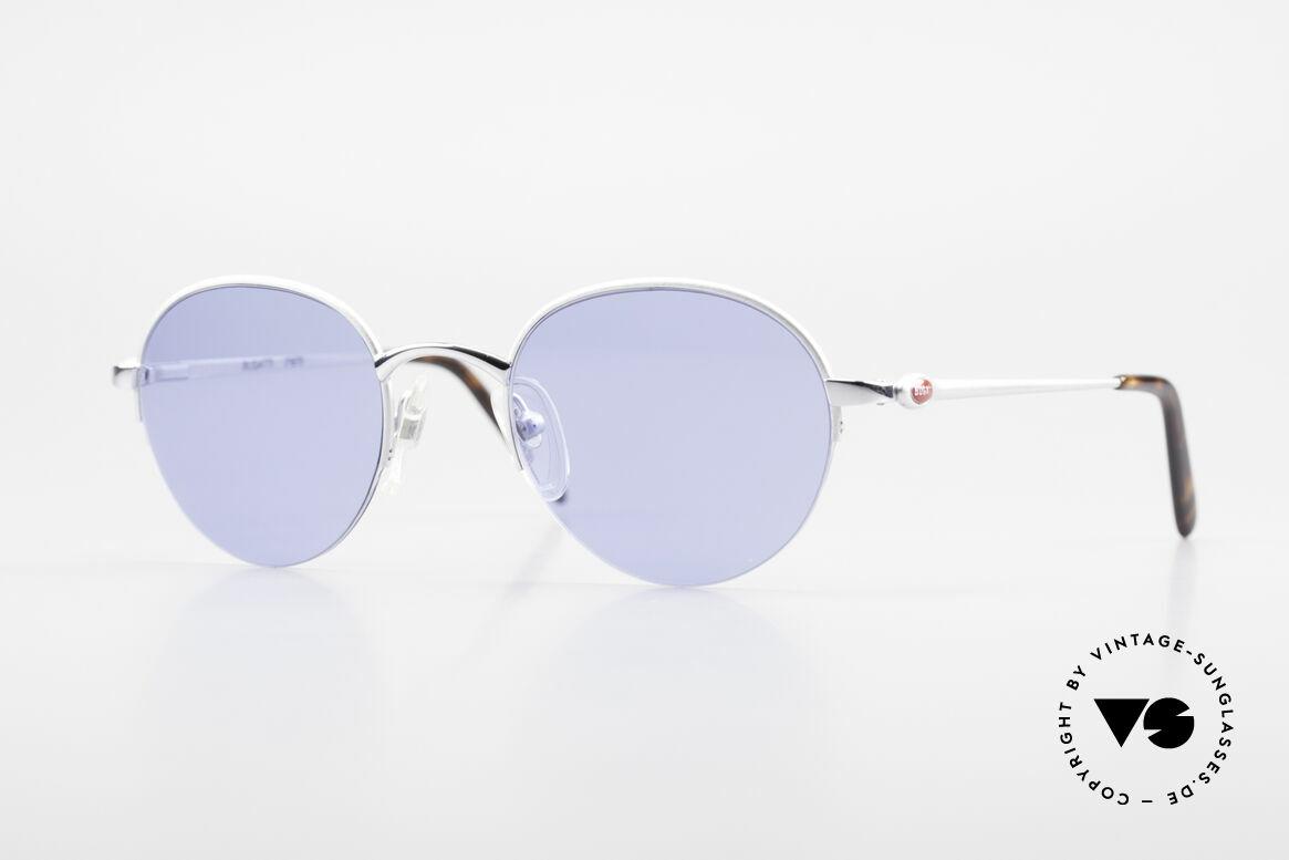 Bugatti 26670 Round Panto Bugatti Glasses, rare Bugatti Panto designer sunglasses; size 49/21, Made for Men