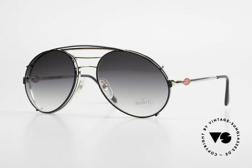 Bugatti 65536 Vintage Glasses with Sun Clip Details