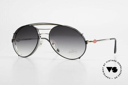 Bugatti 65536 Vintage Glasses with Sun Clip Details