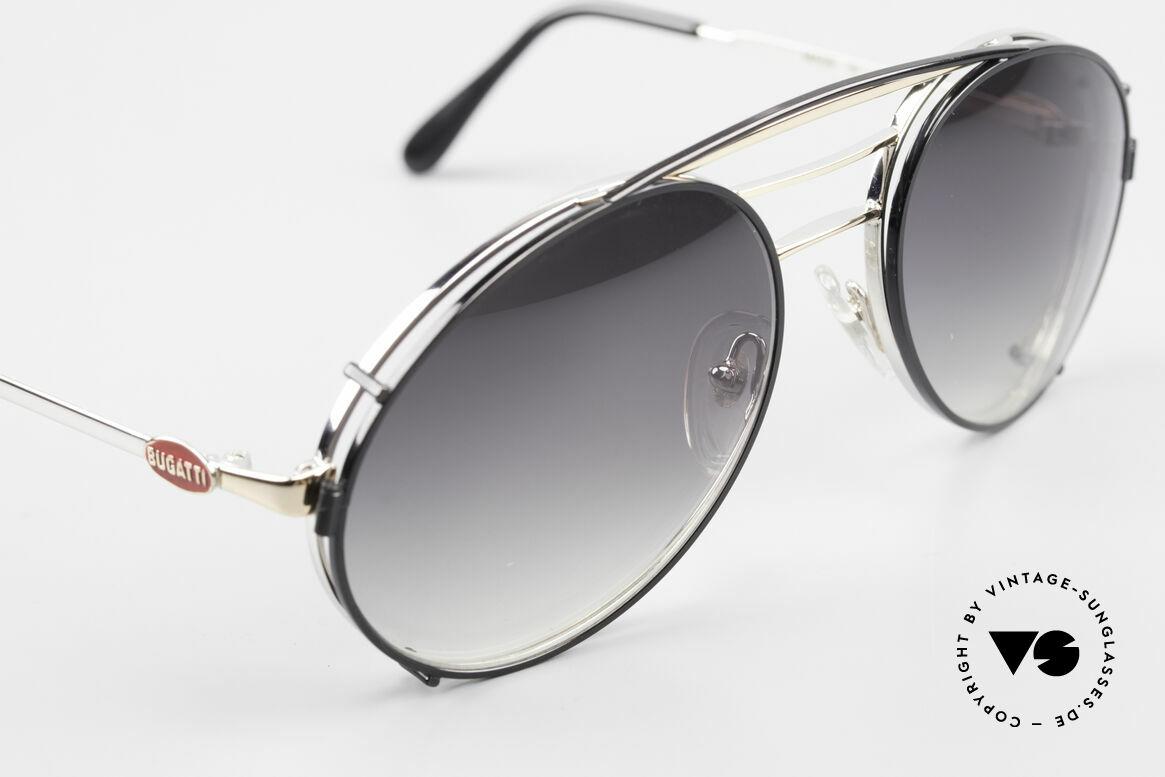 Bugatti 65536 Vintage Glasses with Sun Clip, unworn (like all our VINTAGE Bugatti eyewear), Made for Men