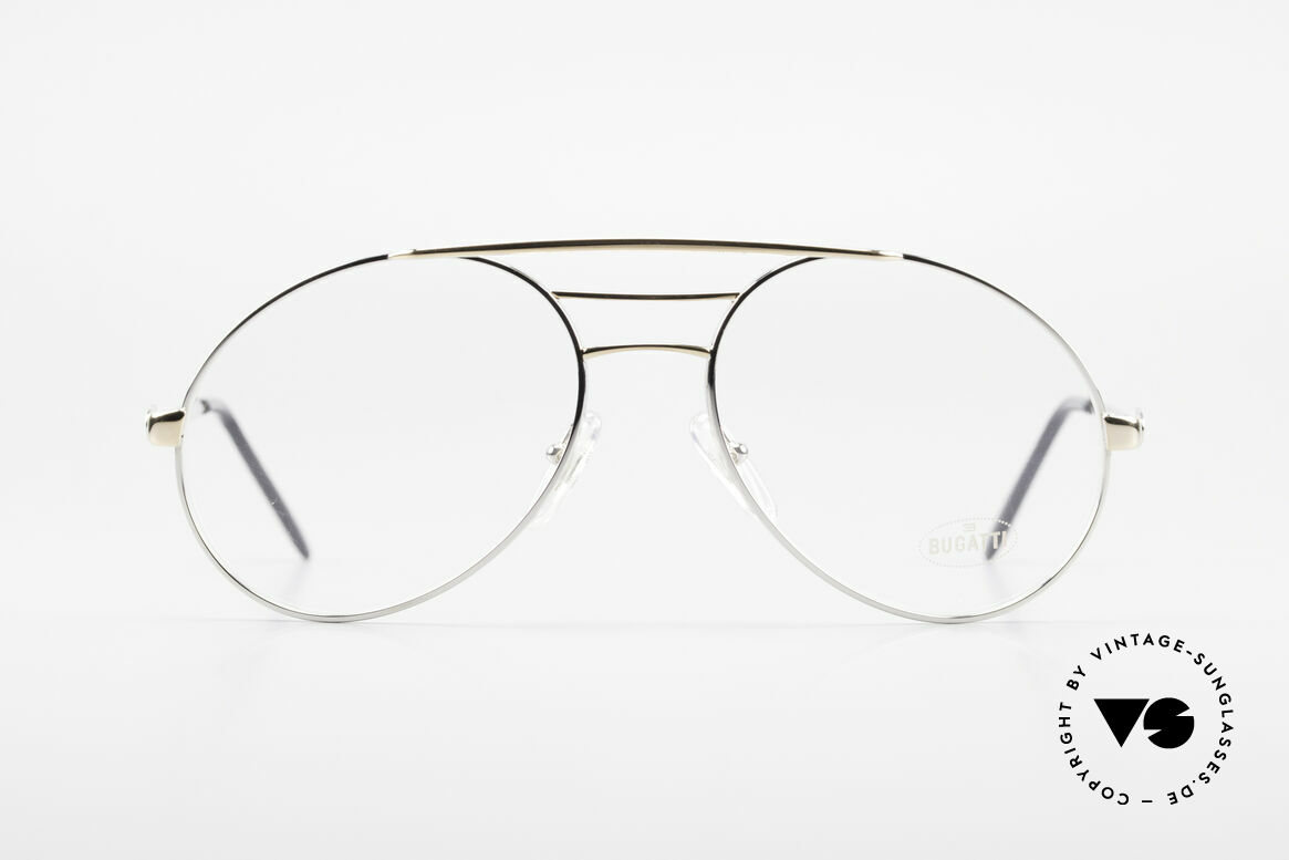 Bugatti 65536 Vintage Glasses with Sun Clip, Size: large, Made for Men