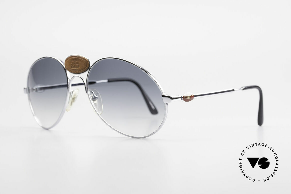 Bugatti 64745 Rare Collector's Sunglasses, spectacular frame with striking Bugatti leather logo, Made for Men