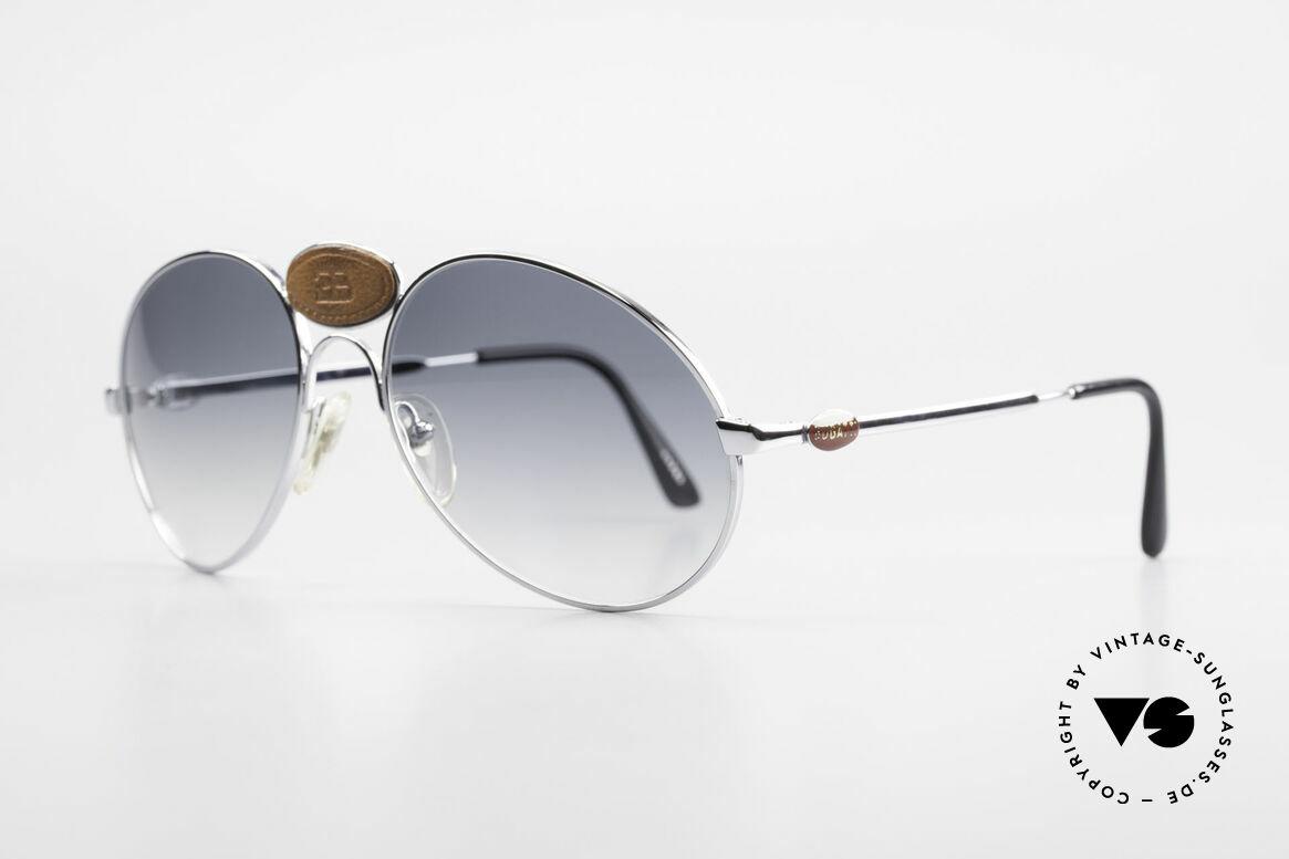 Bugatti 64745 Rare Collector's Sunglasses, spectacular frame with striking Bugatti leather logo, Made for Men
