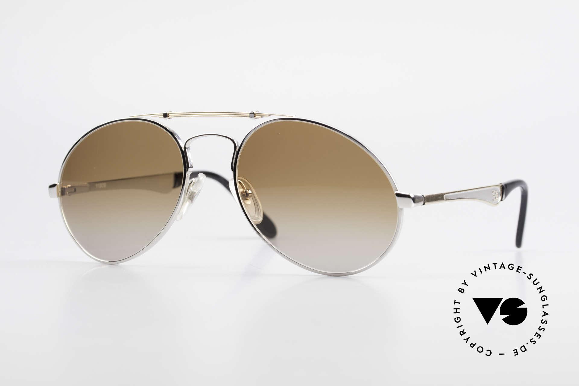 Bugatti 11909 80's Luxury Sunglasses Men, vintage 80's men's sunglasses in XL size 58/20, Made for Men
