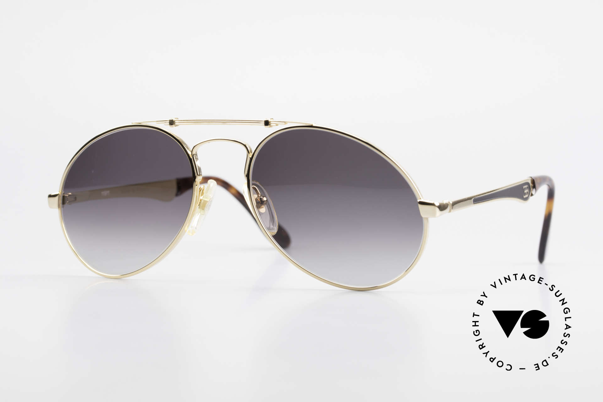 Bugatti 11911 80's Luxury Men's Sunglasses, vintage 80's men's sunglasses, large size 56/20, Made for Men