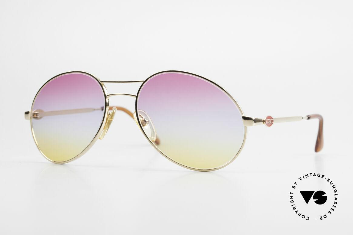 Bugatti 64335 Extraordinary 80's Sunglasses, classic Bugatti sunglasses from app. 1988/89, Made for Men
