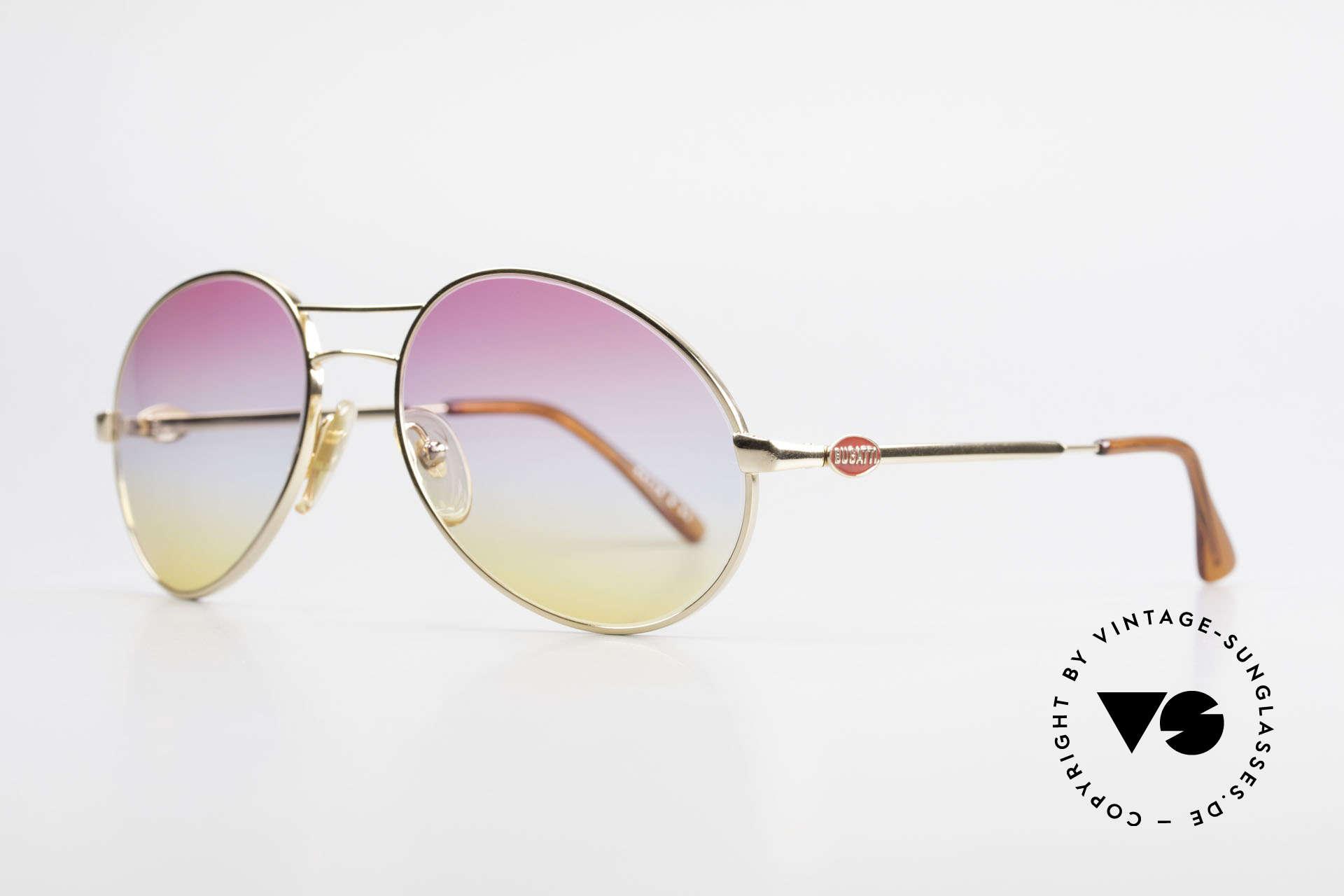 Bugatti 64335 Extraordinary 80's Sunglasses, often called as Bugatti 'sad tear drop' design, Made for Men