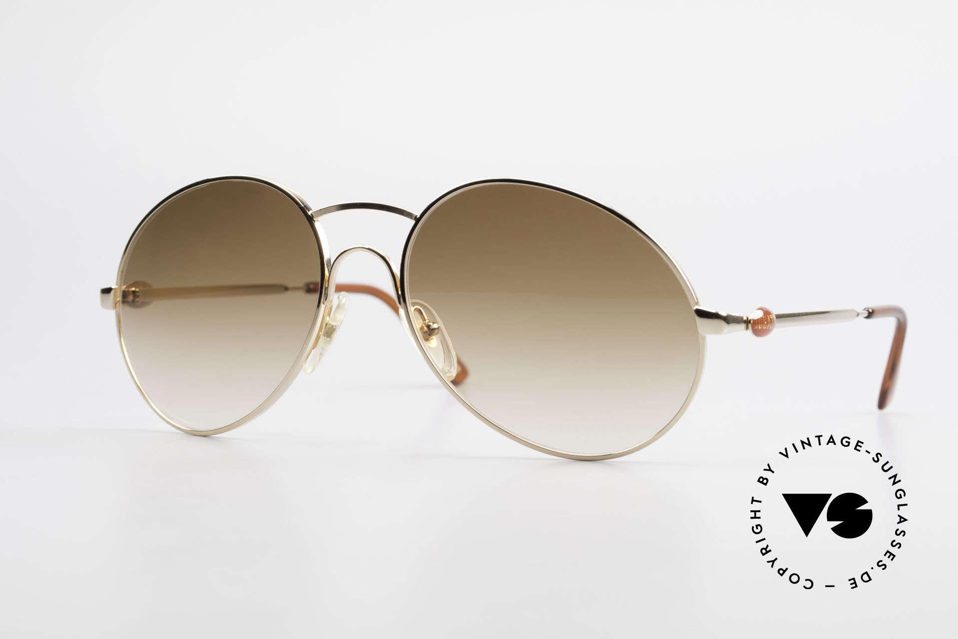 Bugatti 64947 Original 1980's XL Sunglasses, rare vintage Bugatti designer sunglasses from 1983, Made for Men