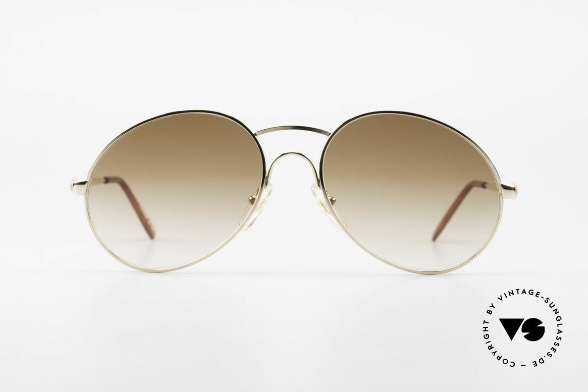 "Bugatti 64947 Original 1980's XL Sunglasses, legendary classic ""sad tear drop"" shape by BUGATTI, Made for Men"