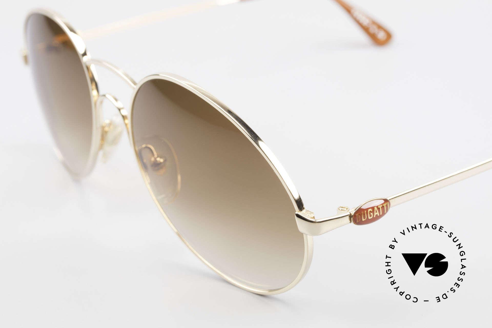 Bugatti 64947 Original 1980's XL Sunglasses, luxury sunglasses for men in X-LARGE size (146mm), Made for Men