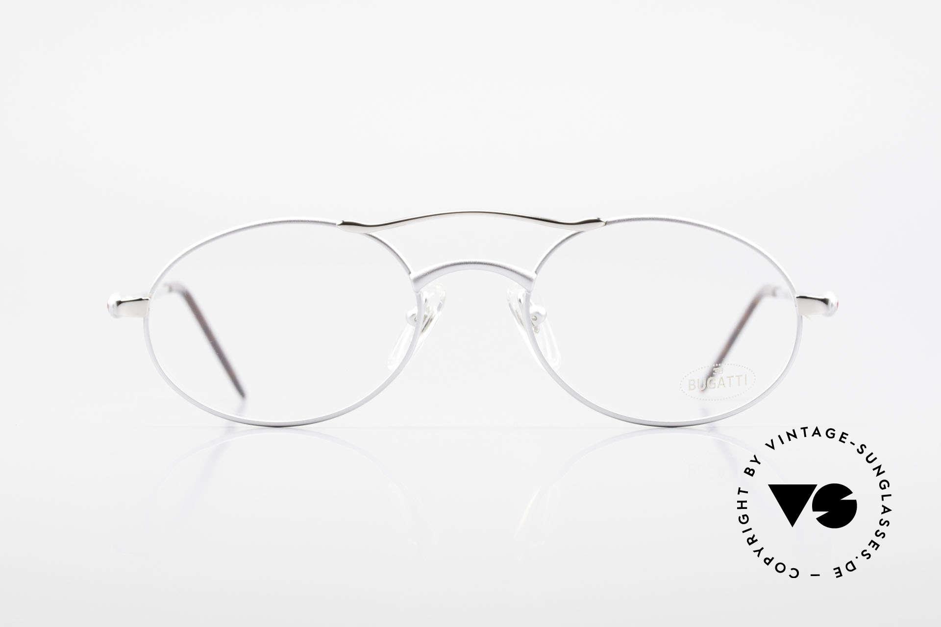 Bugatti 26540 Men's 90's Luxury Eyeglasses, legendary 'tear drop' design by Bugatti of the 90s, Made for Men