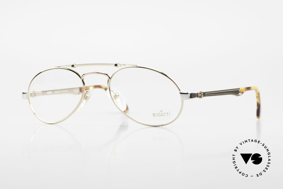 Bugatti 16908 Gold Plated 80's Eyeglasses, very elegant designer eyeglass-frame by BUGATTI, Made for Men