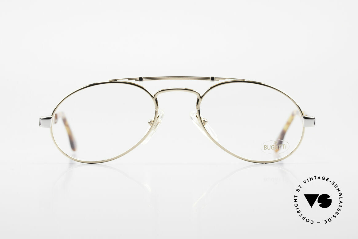 Bugatti 16908 Gold Plated 80's Eyeglasses, legendary 'tear drop' design by Bugatti of the 80s, Made for Men