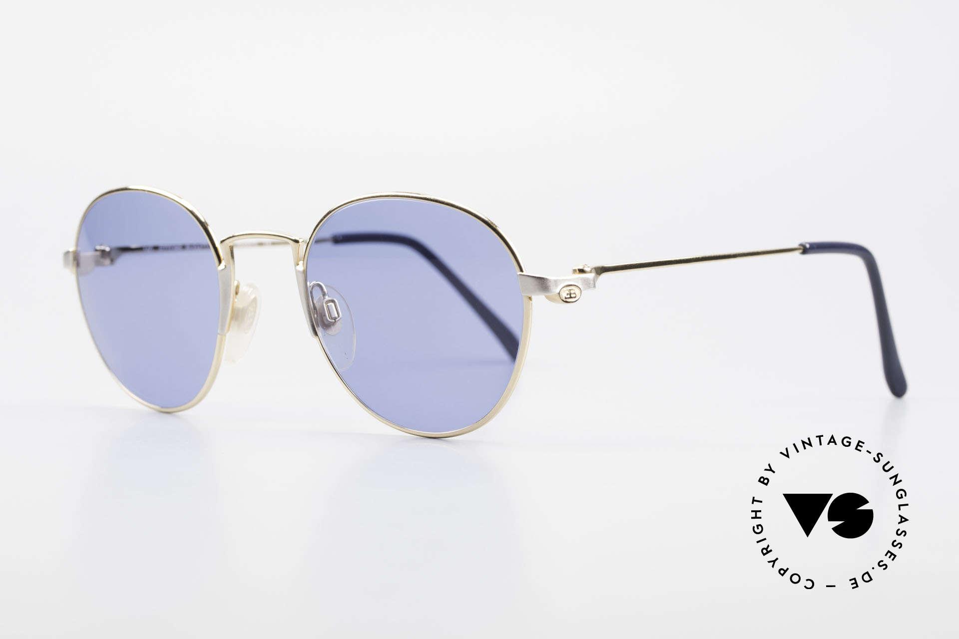 Bugatti EB600 Luxury Bugatti Panto Glasses, gold/palladium frame of the 'ETTORE Bugatti' series, Made for Men