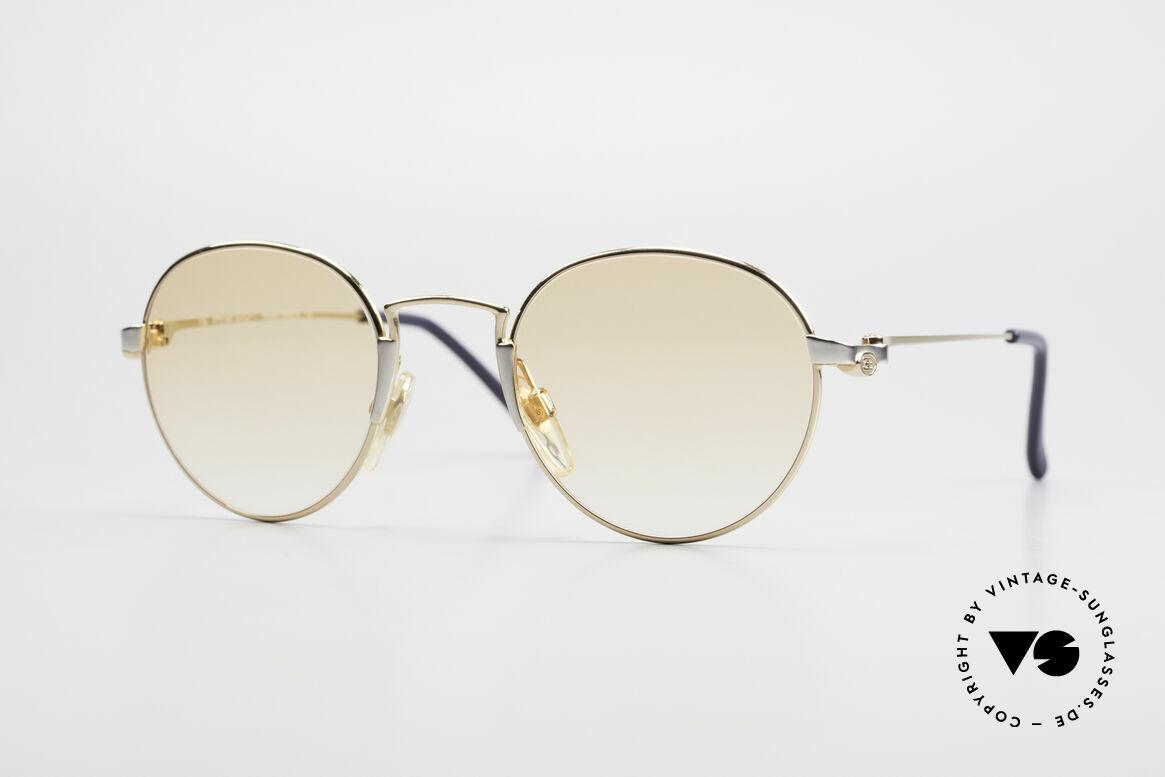 Bugatti EB600 Small 90s Luxury Panto Frame, small Bugatti Panto designer sunglasses; size 47/22, Made for Men