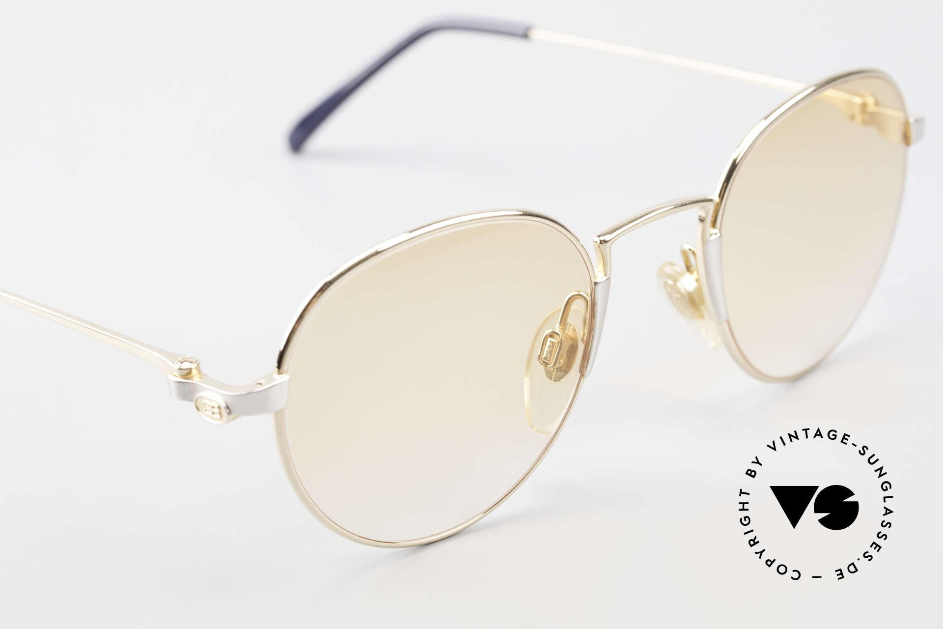 Bugatti EB600 Small 90s Luxury Panto Frame, unworn (like all our rare vintage Bugatti sunglasses), Made for Men