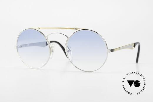 Bugatti 11709 80's Luxury Sunglasses Round Details