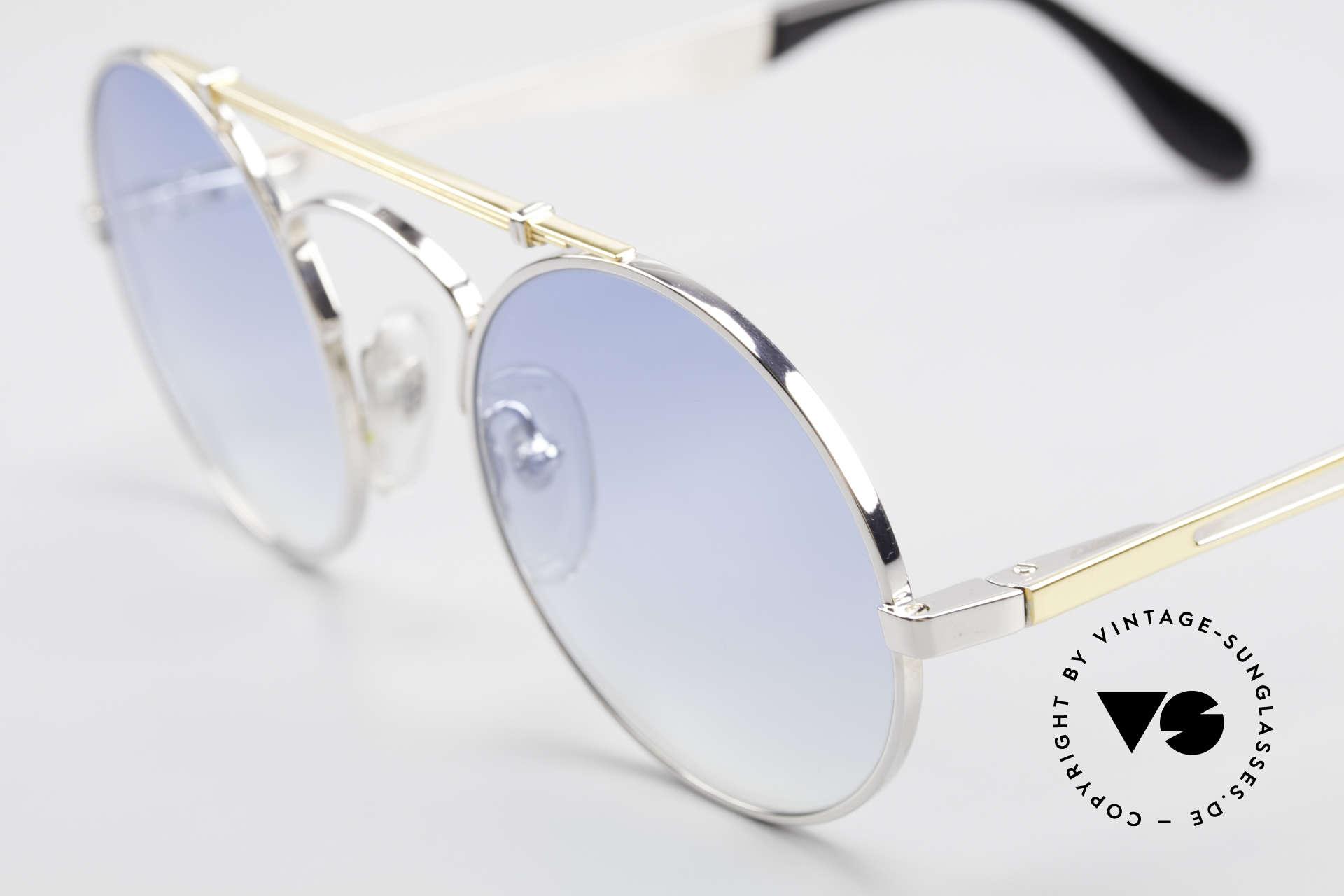 Bugatti 11709 80's Luxury Sunglasses Round, NO RETRO sunglasses; but a 30 years old ORIGINAL, Made for Men