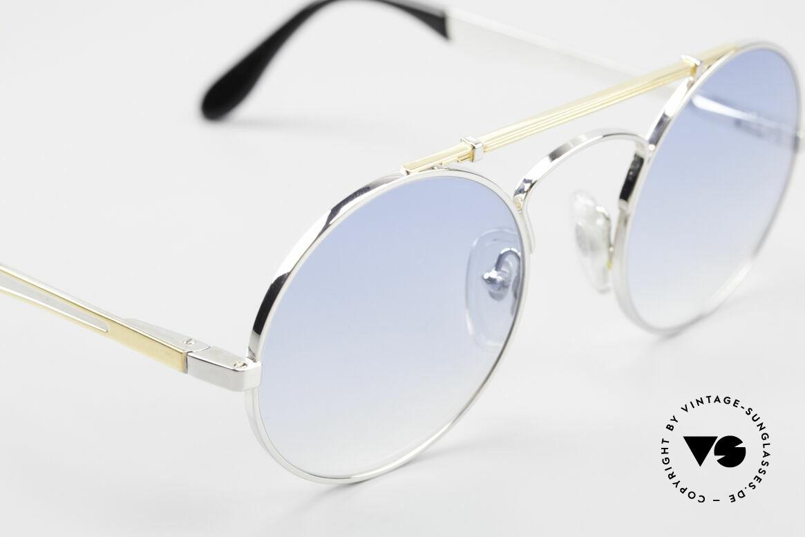 Bugatti 11709 80's Luxury Sunglasses Round, Size: small, Made for Men