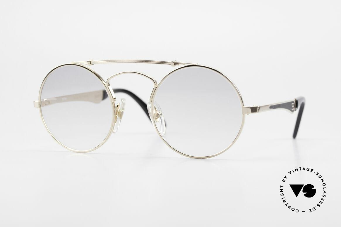 Bugatti 11711 Small Round Luxury Sunglasses, SMALL round vintage Bugatti sunglasses, in 46/22, Made for Men