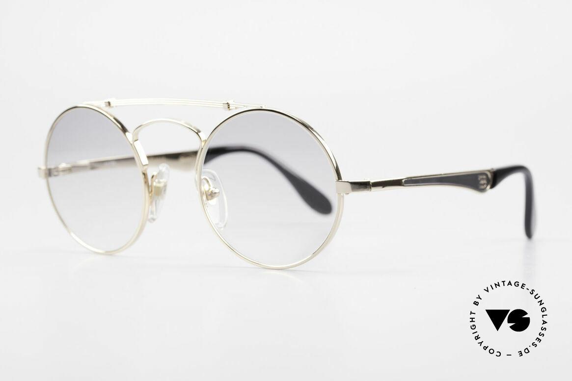 Bugatti 11711 Small Round Luxury Sunglasses, a ROUND Bugatti frame is incredible hard to find!, Made for Men