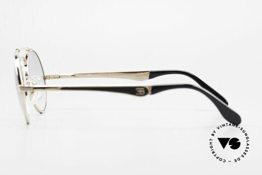 Bugatti 11711 Small Round Luxury Sunglasses, NO RETRO sunglasses; but a 30 years old ORIGINAL, Made for Men