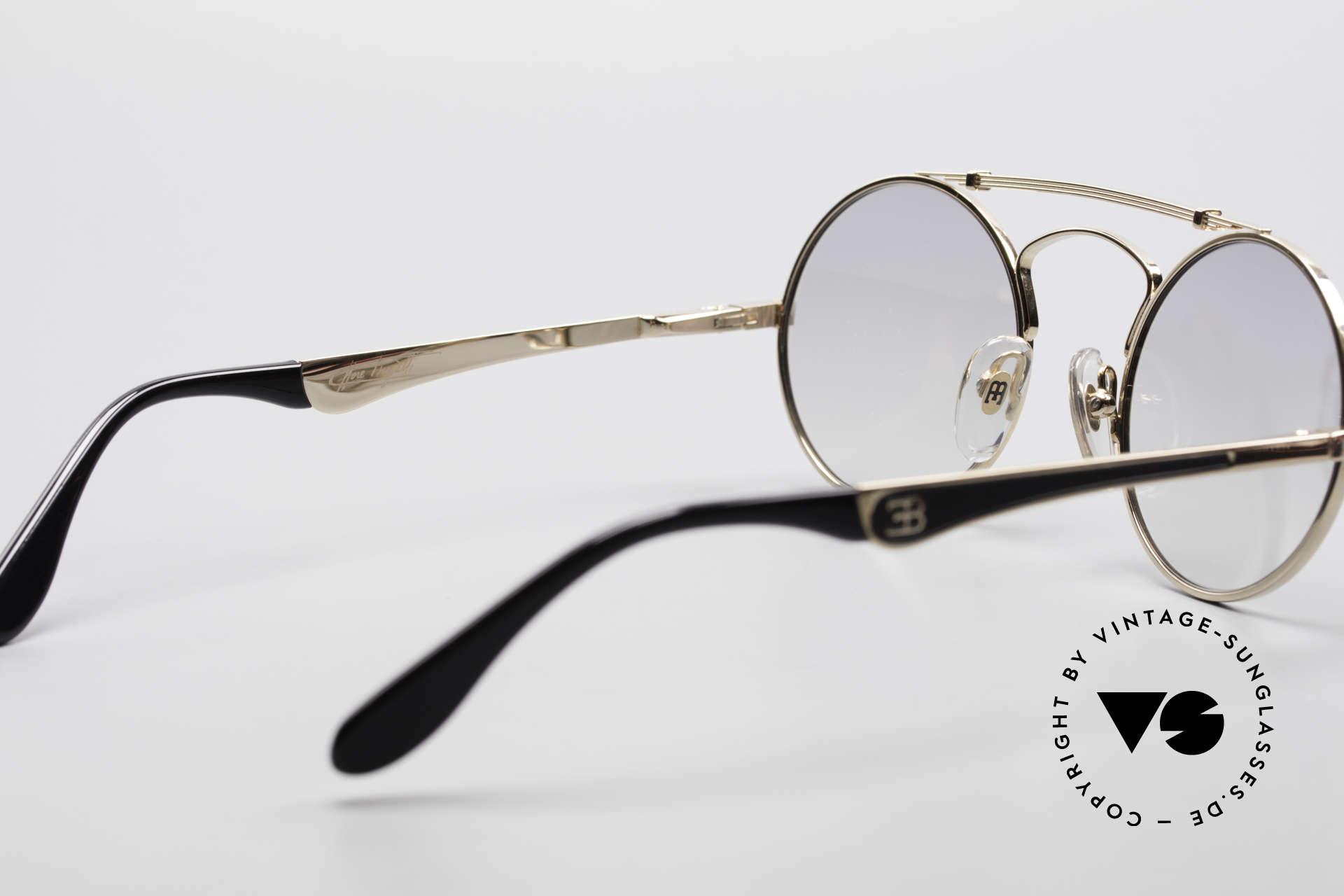 Bugatti 11711 Small Round Luxury Sunglasses, Size: small, Made for Men