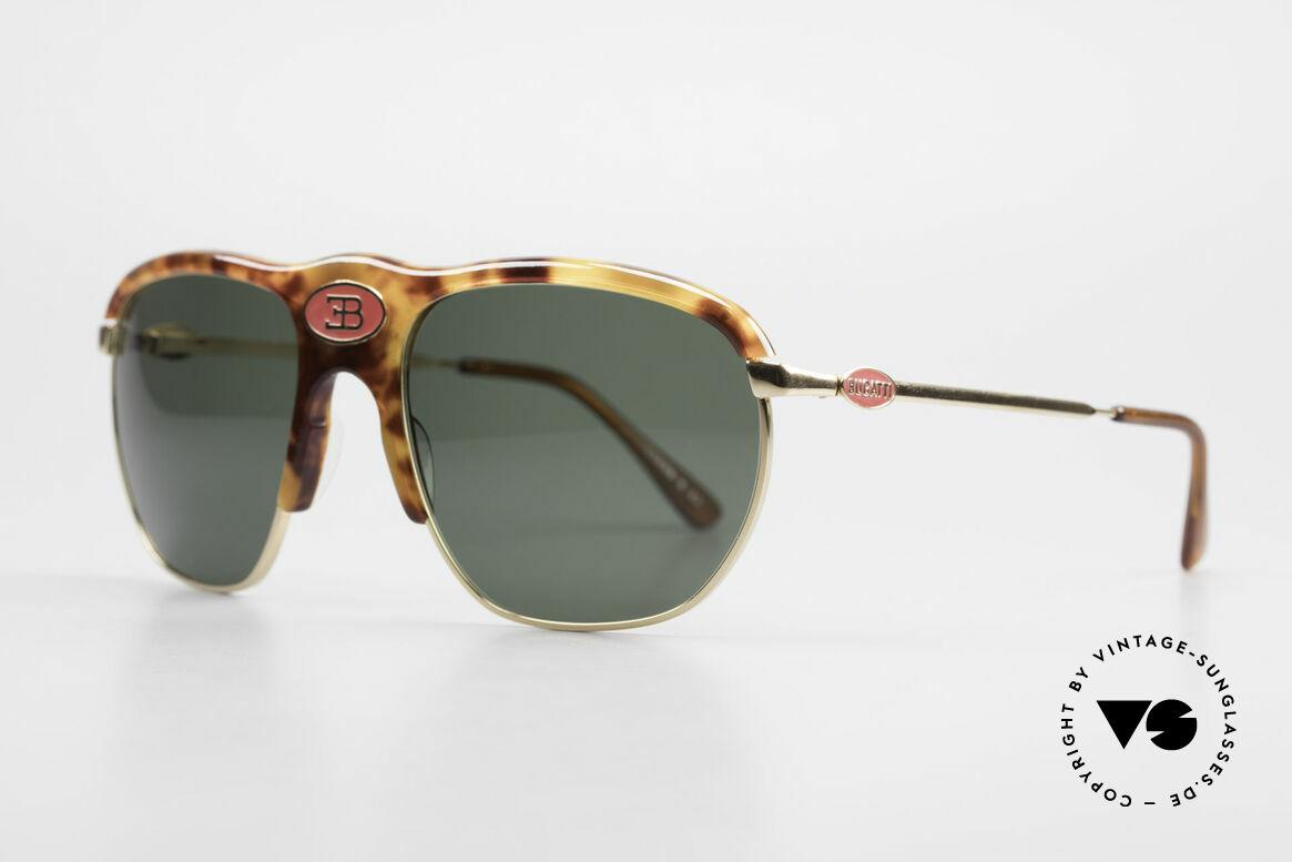 Bugatti 65218 Rare 70's Bugatti Sunglasses, LARGE frame (58 size) with central red Bugatti logo, Made for Men