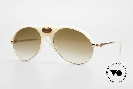 Bugatti 64748 Ivory Optic 70's Sunglasses Details
