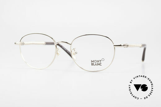 Montblanc MB392 Luxury Panto Frame Rose Gold Details