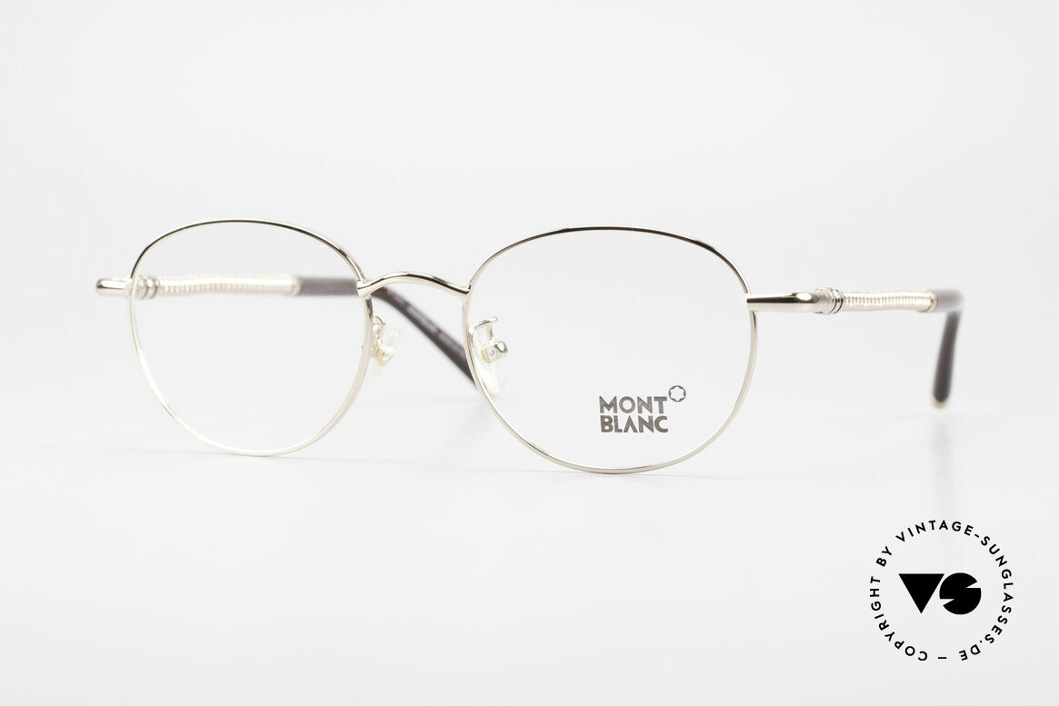 Montblanc MB392 Luxury Panto Frame Rose Gold, Mont Blanc Panto glasses, 392, col. 028, size 51/19, Made for Men and Women