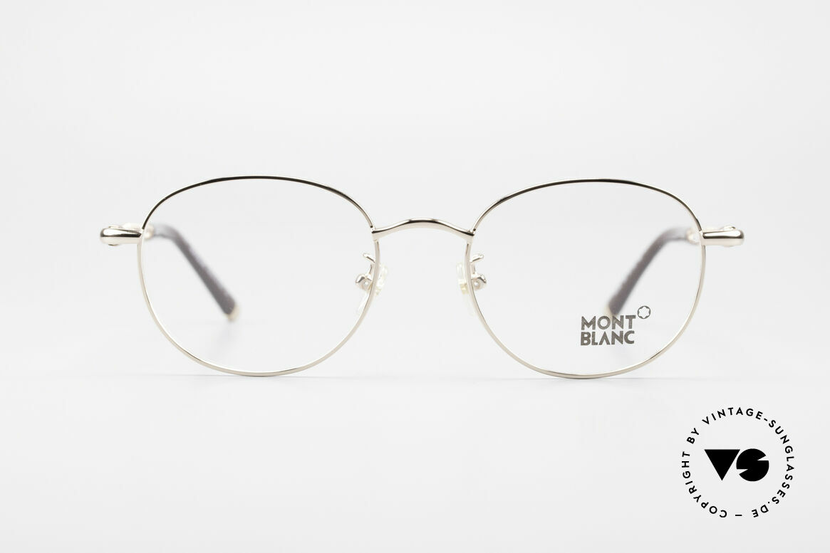 Montblanc MB392 Luxury Panto Frame Rose Gold, top-notch craftsmanship with flexible spring hinges, Made for Men and Women