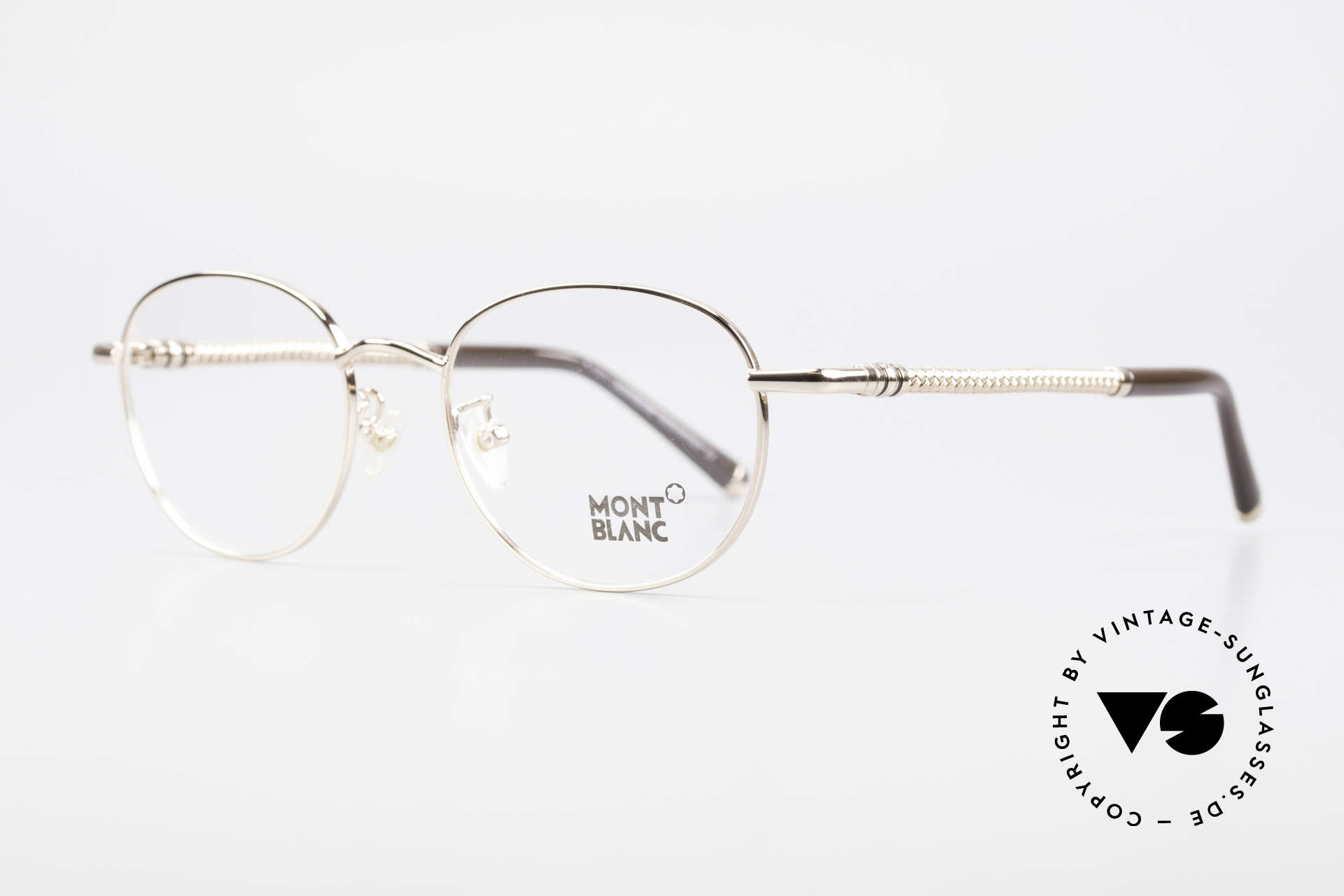 Montblanc MB392 Luxury Panto Frame Rose Gold, metal frame in ROSÉ-GOLD (the finish looks warmer), Made for Men and Women