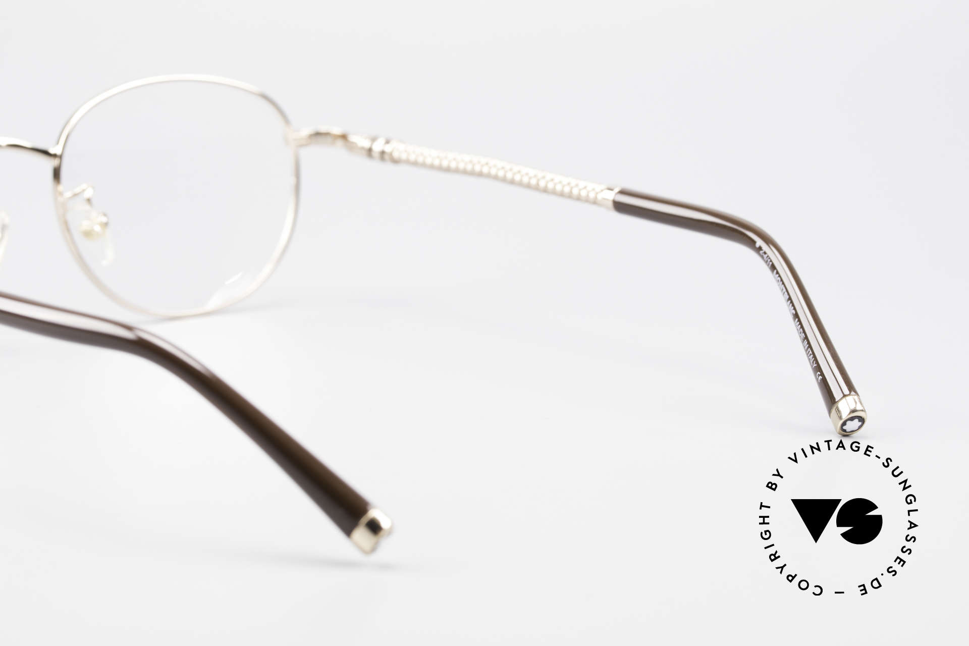 Montblanc MB392 Luxury Panto Frame Rose Gold, NO RETRO glasses, but an old ORIGINAL from 1999, Made for Men and Women