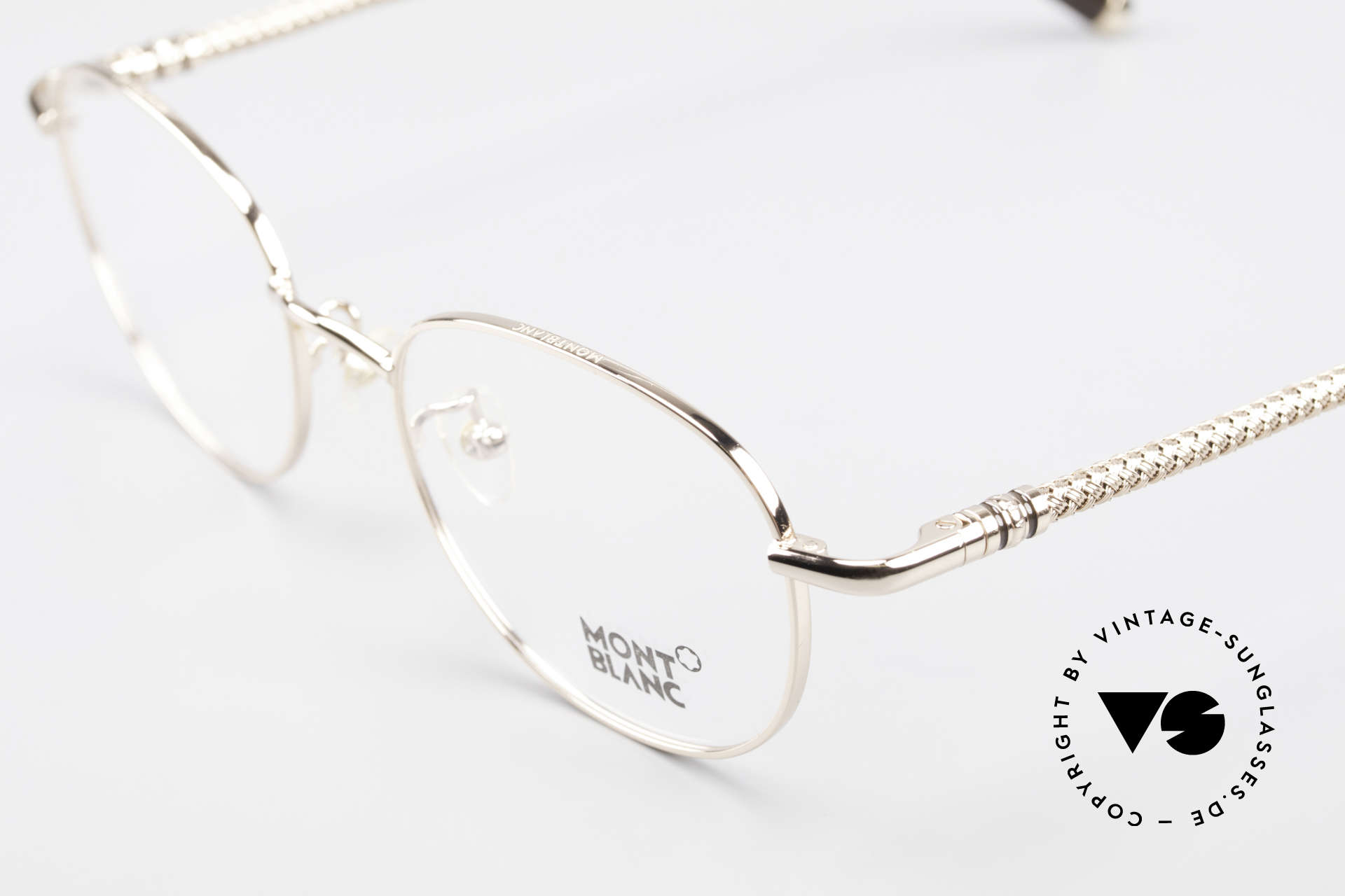 Montblanc MB392 Luxury Panto Frame Rose Gold, frame can be glazed with optical lenses / sun lenses, Made for Men and Women