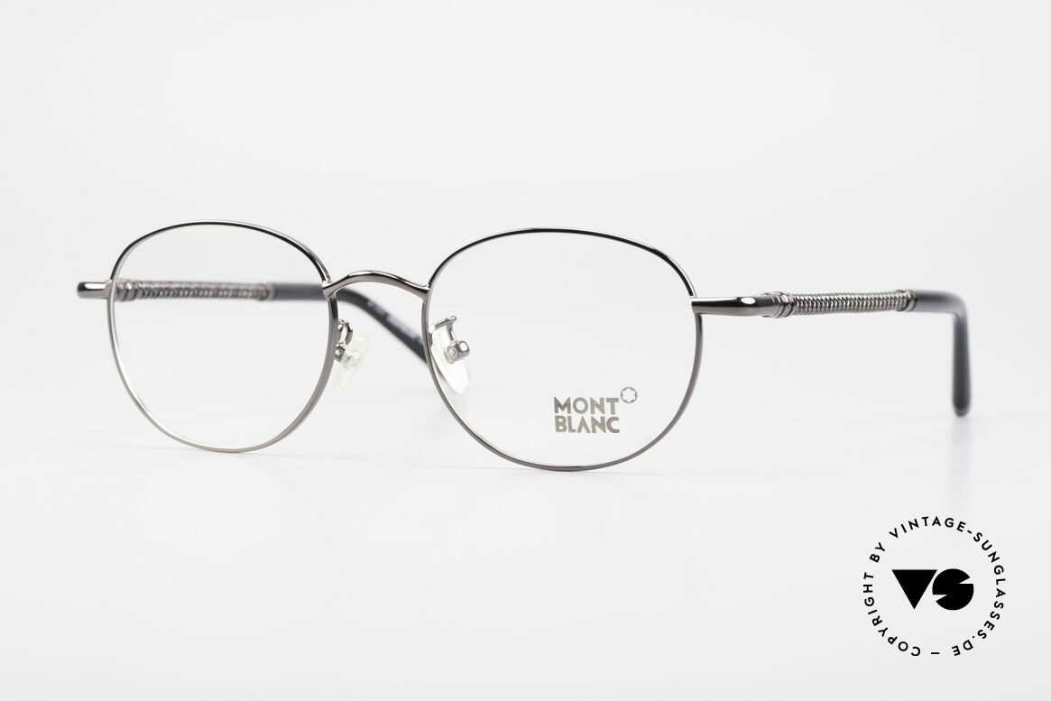 Montblanc MB392 Luxury Panto Frame Gunmetal, Mont Blanc Panto glasses, 392, col. 012, size 51/19, Made for Men and Women