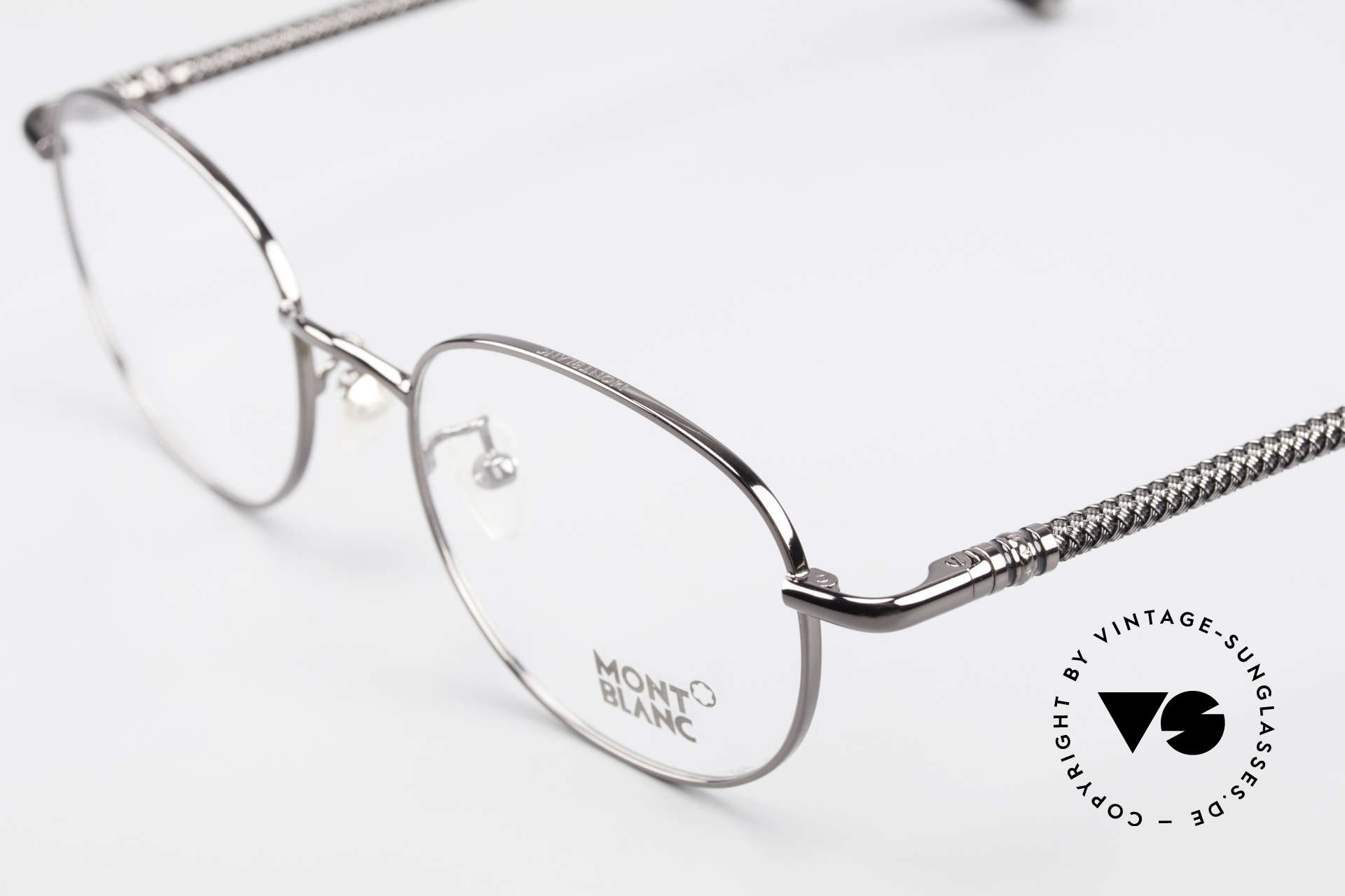 Montblanc MB392 Luxury Panto Frame Gunmetal, NO RETRO glasses, but an old ORIGINAL from 1999, Made for Men and Women