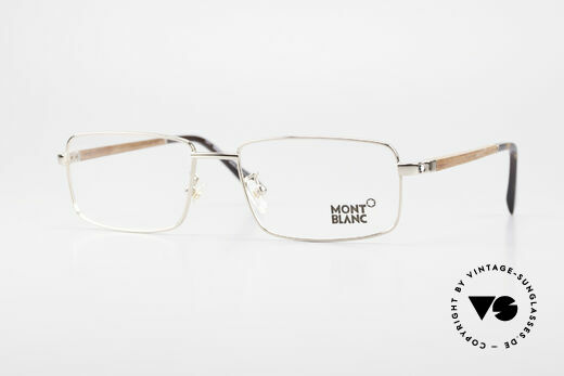 Montblanc MB389 Gold-Plated Wood Glasses Men Details