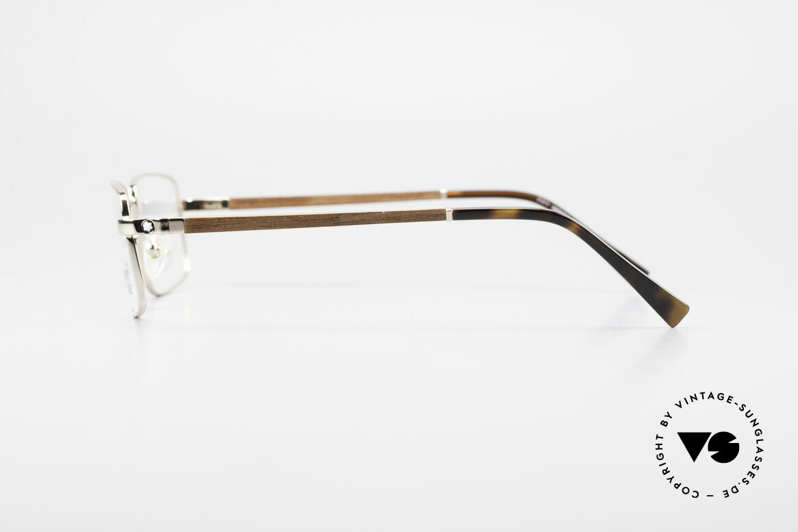 Montblanc MB389 Gold-Plated Wood Glasses Men, unworn rarity (with original packing by Mont Blanc), Made for Men