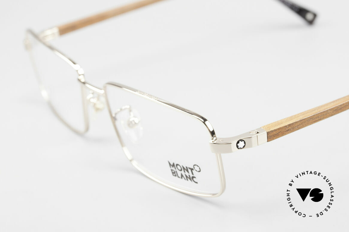 Montblanc MB389 Gold-Plated Wood Glasses Men