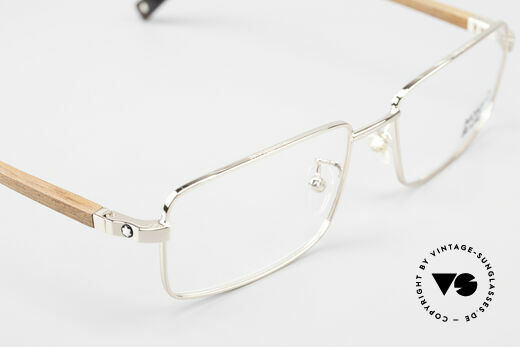Montblanc MB389 Gold-Plated Wood Glasses Men, frame can be glazed with optical lenses / sun lenses, Made for Men