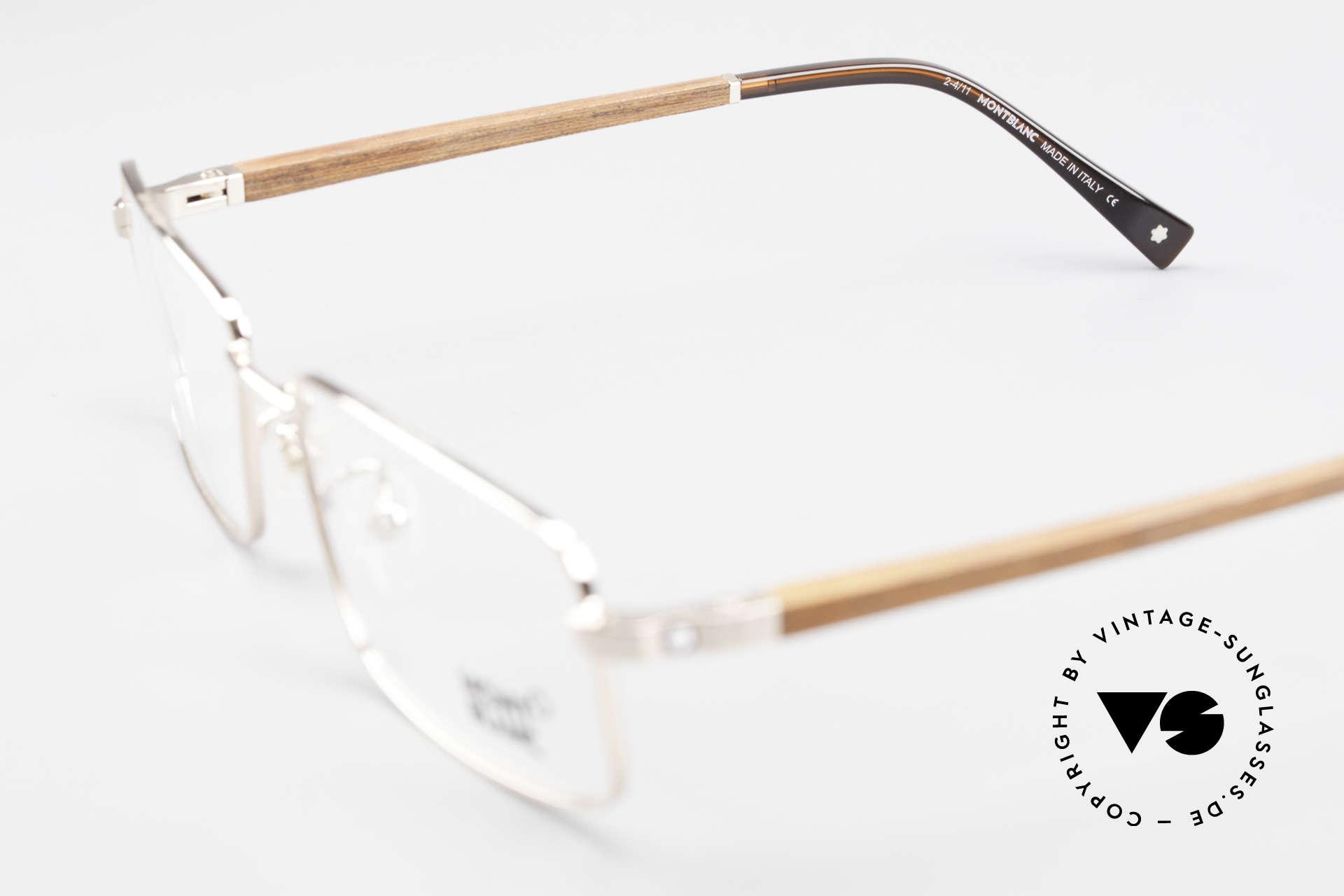 Montblanc MB389 Gold-Plated Wood Glasses Men, Size: medium, Made for Men