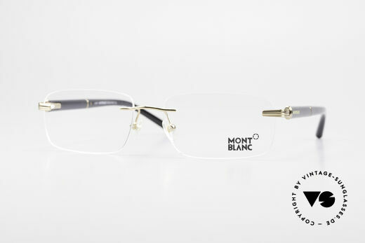 Montblanc MB337 Rimless Eyeglasses Gold-Plated Details