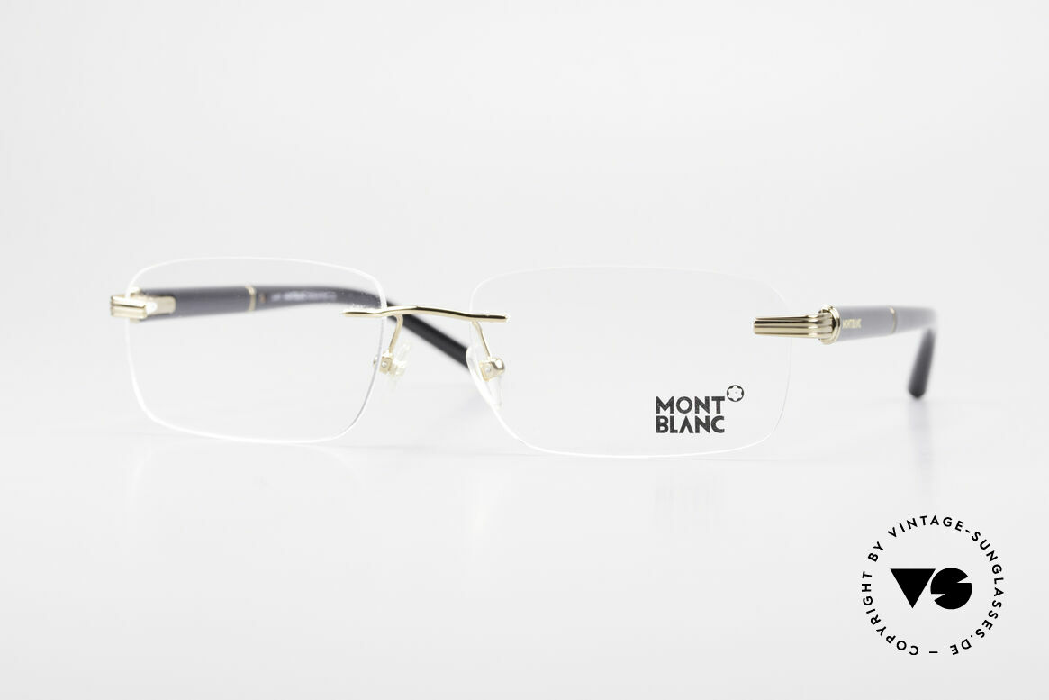 Montblanc MB337 Rimless Eyeglasses Gold-Plated, rimless Mont Blanc glasses, 337, col. 030, size 57/16, Made for Men