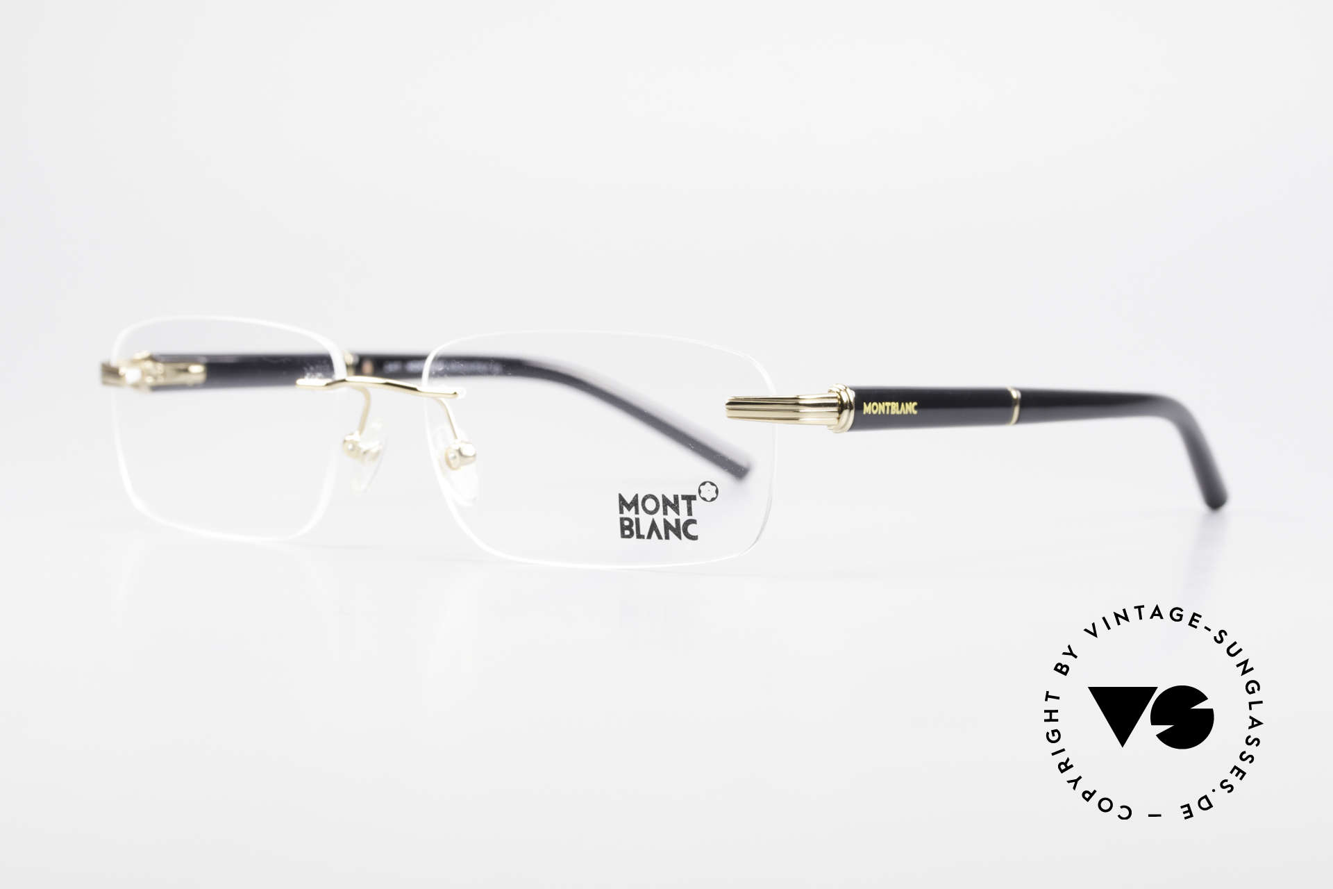 Montblanc MB337 Rimless Eyeglasses Gold-Plated, gold-plated rimless frame can be glazed optionally, Made for Men