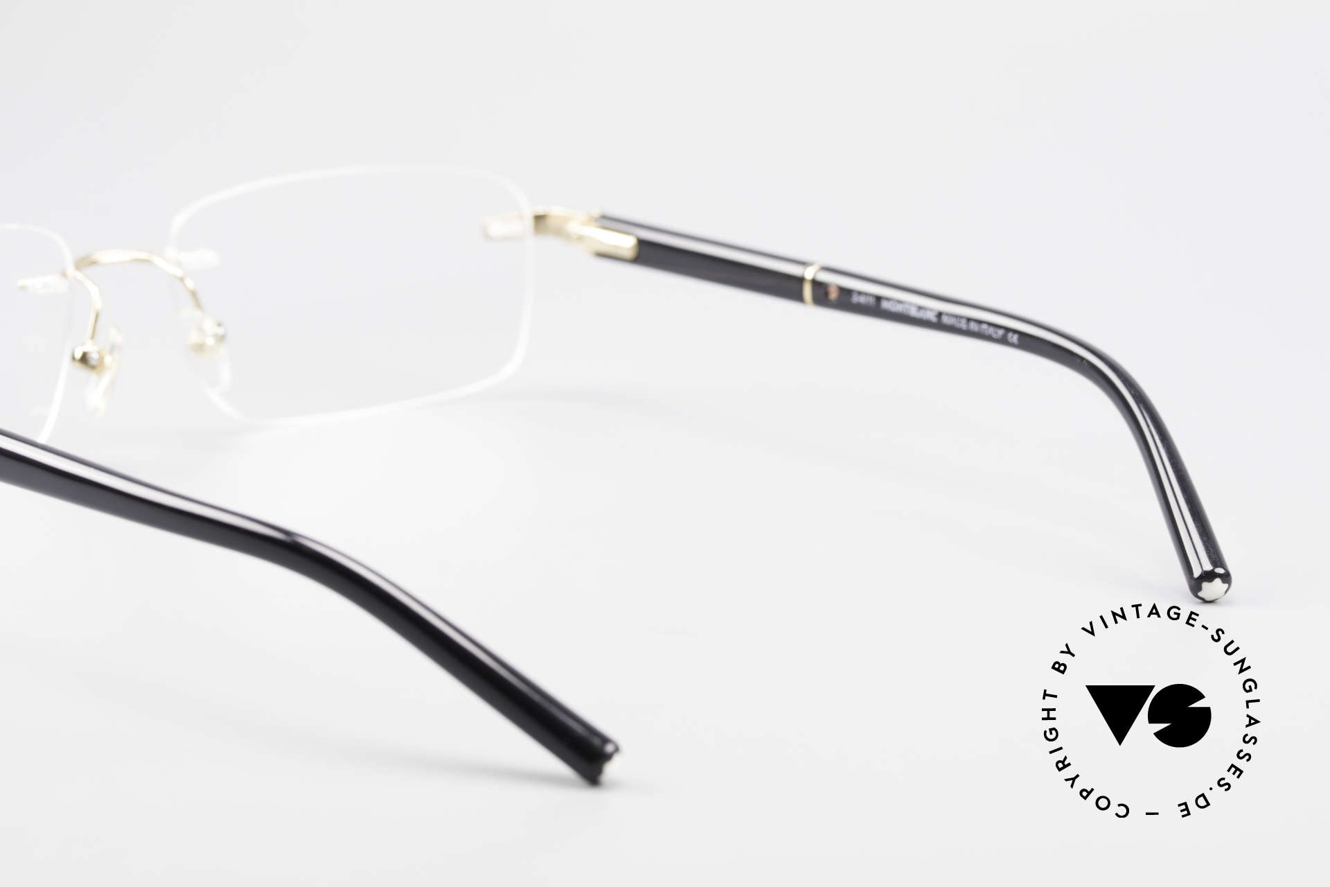 Montblanc MB337 Rimless Eyeglasses Gold-Plated, NO RETRO glasses, but an old ORIGINAL from 1999, Made for Men